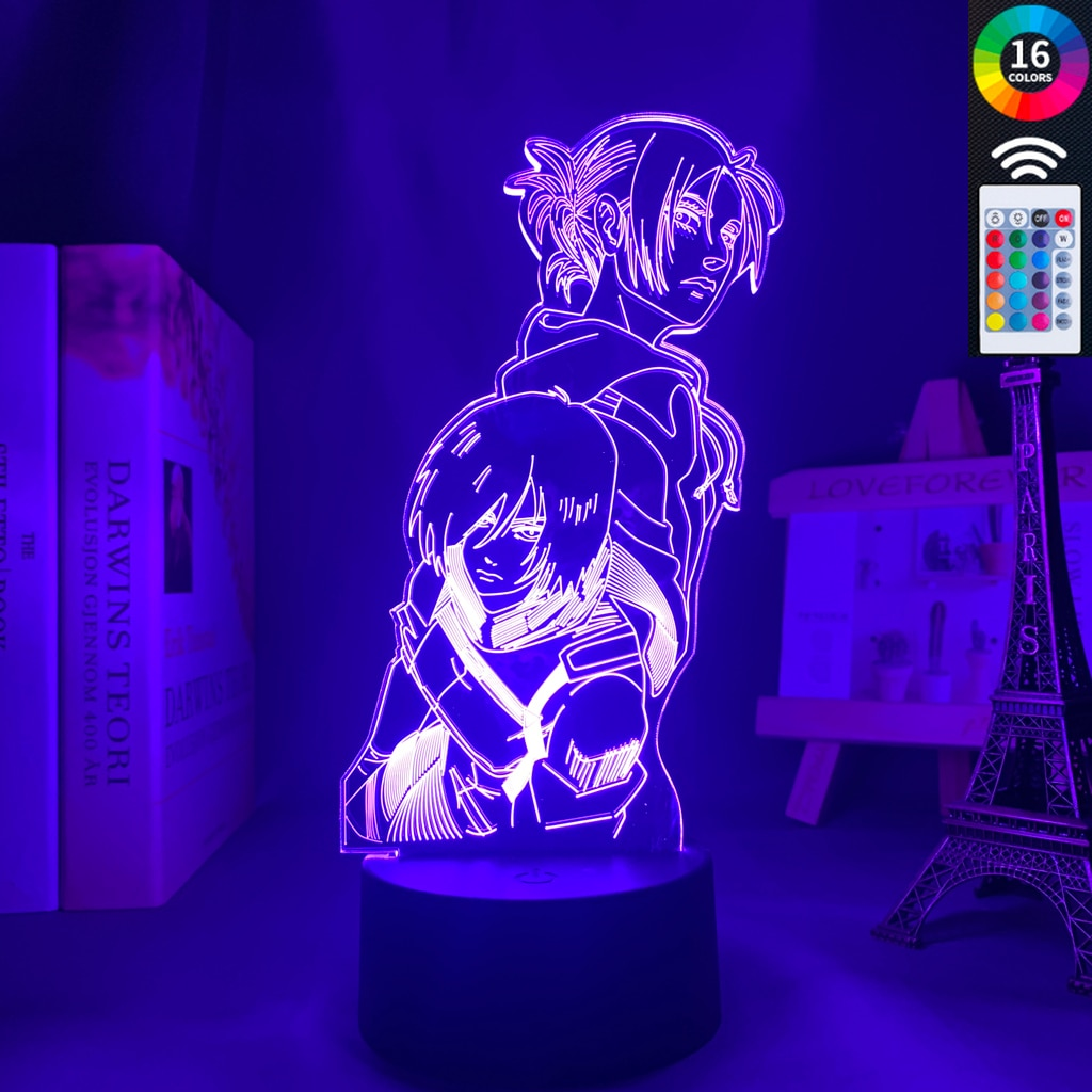 Anime Attack on Titan 3d Lamp Annie Leonhart Light for Bedroom Decoration Kids Gift Attack on - Attack On Titan Shop