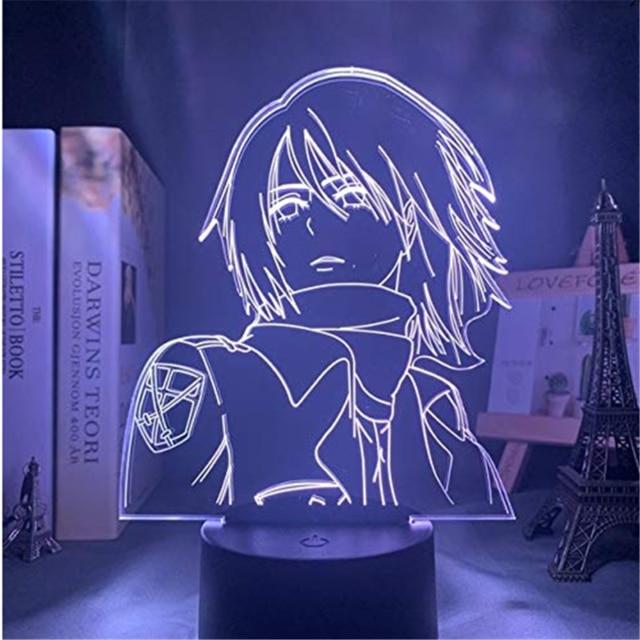 Attack On Titans LED Lamp Levi Ackerman 3D Anime Night Light Bedroom Decor Kid Lampe Home 6.jpg 640x640 6 - Attack On Titan Shop