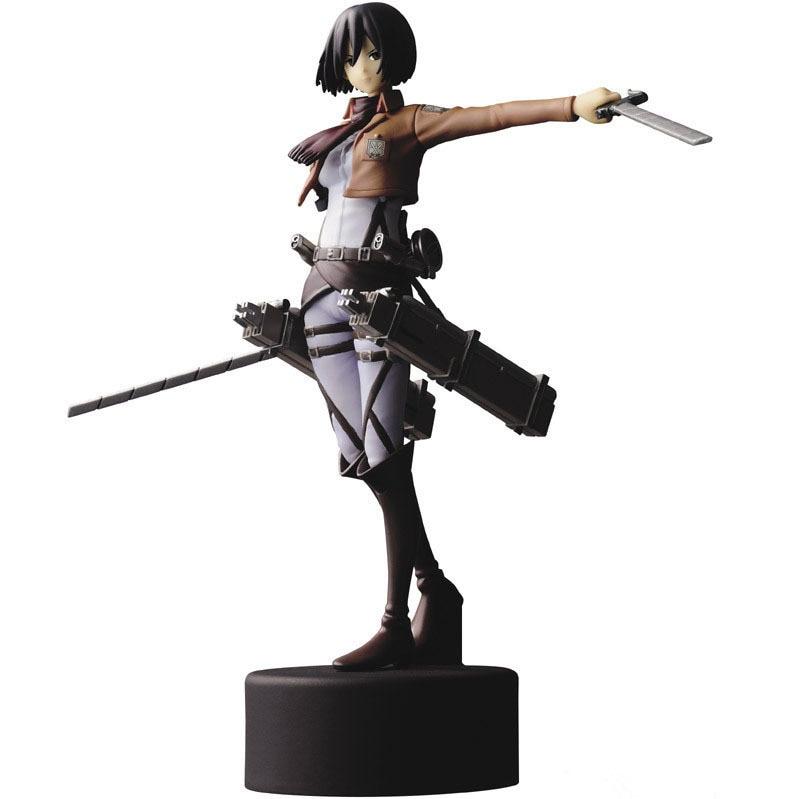 attack on titan figure mikasa ackerman figure 18 scale painted pvc action figure copy - Attack On Titan Shop